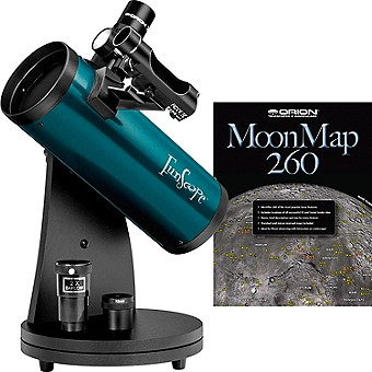 FunScope 76mm TableTop Reflector Telescope Moon Kit